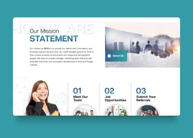 website mockusp design