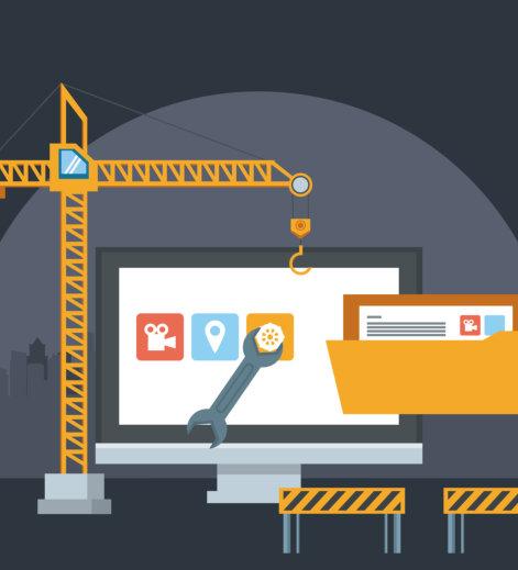 website maintenance concept